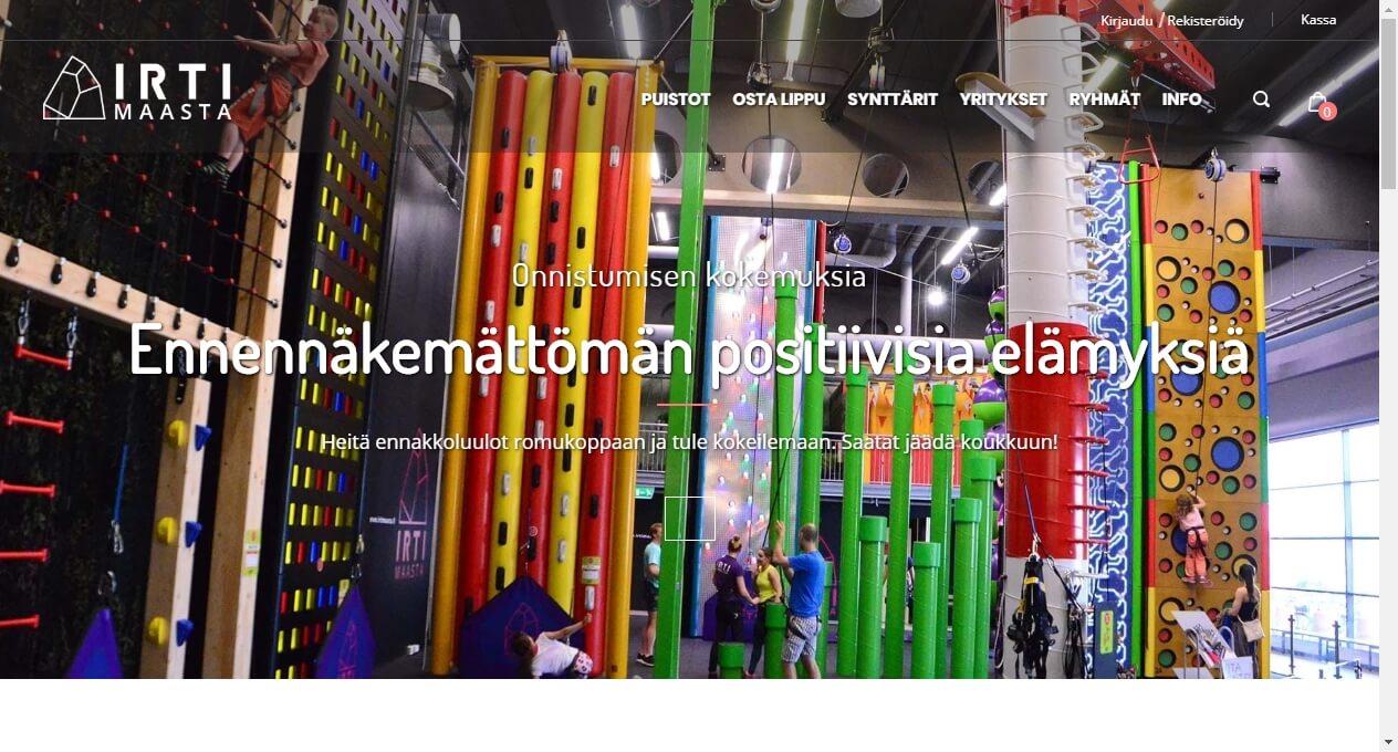 Irti Maasta homepage UX