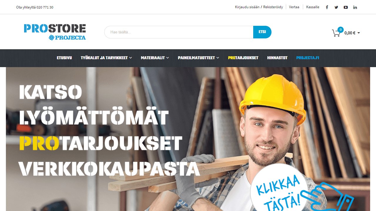 Projecta homepage UX