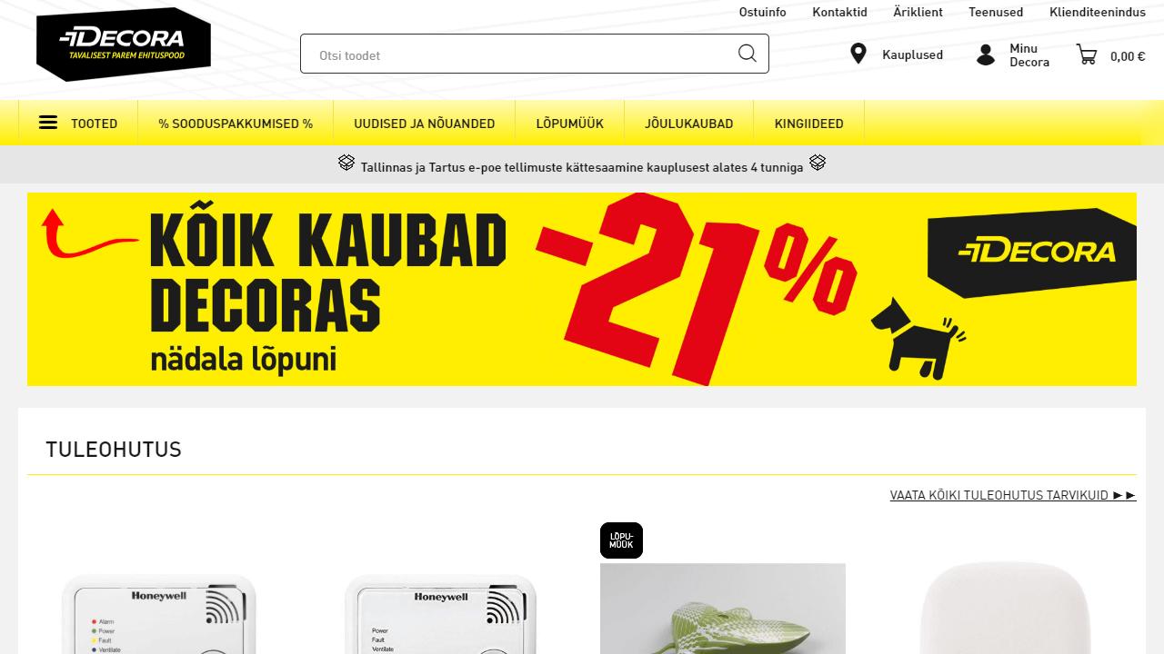 Decora homepage UX